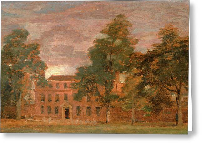 West Lodge, East Bergholt Wooling Hall, John Constable Greeting Card by Litz Collection