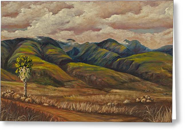Greeting Card featuring the painting West Maui Splender  by Darice Machel McGuire