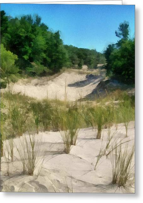 West Michigan Dunes Greeting Card