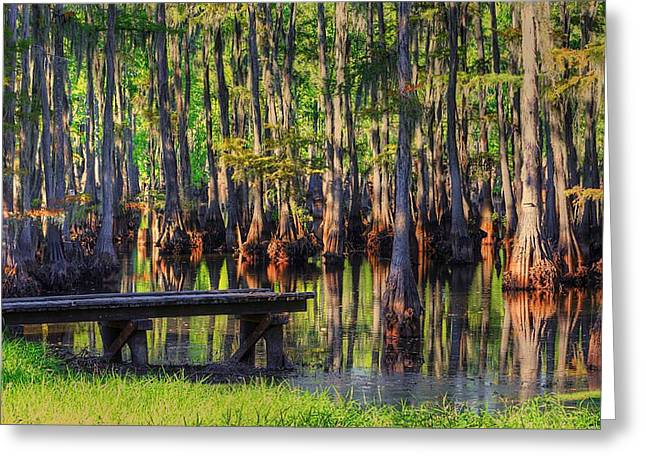 West Monroe Swamp Dock Greeting Card