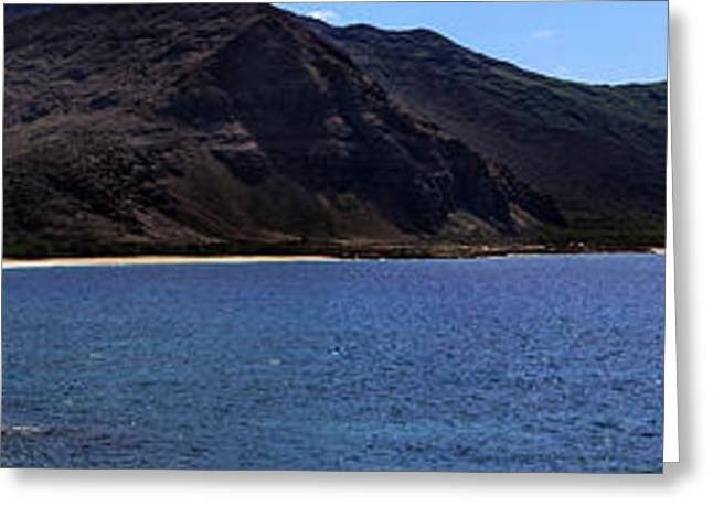 Greeting Card featuring the photograph West Oahu Panorama by Rob Tullis