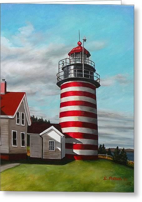 West Quoddy Head Lighthouse Greeting Card