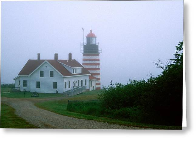 West Quoddy Lighthouse Greeting Card by Amanda Kiplinger