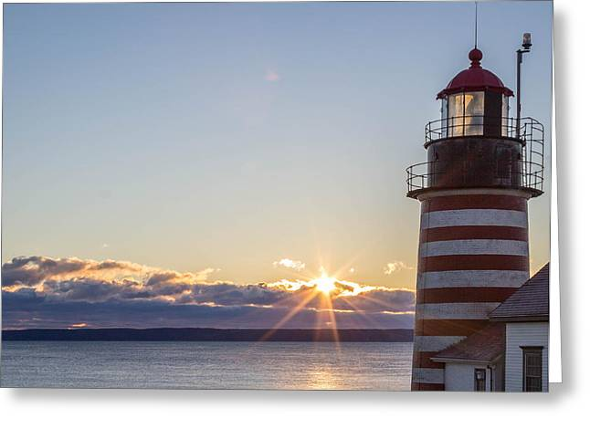 West Quoddy Lighthouse Sunrise Greeting Card