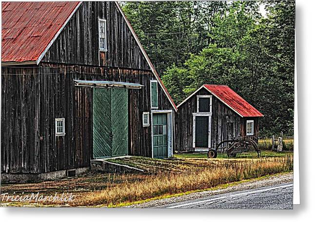 West Side Road Greeting Card by Tricia Marchlik