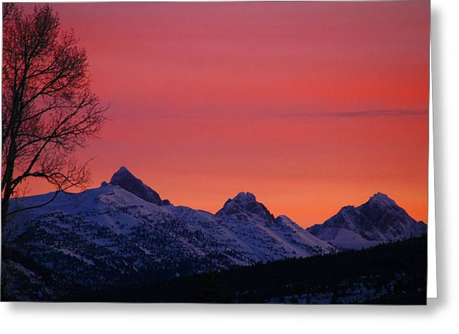 West Side Teton Sunrise Greeting Card by Raymond Salani III