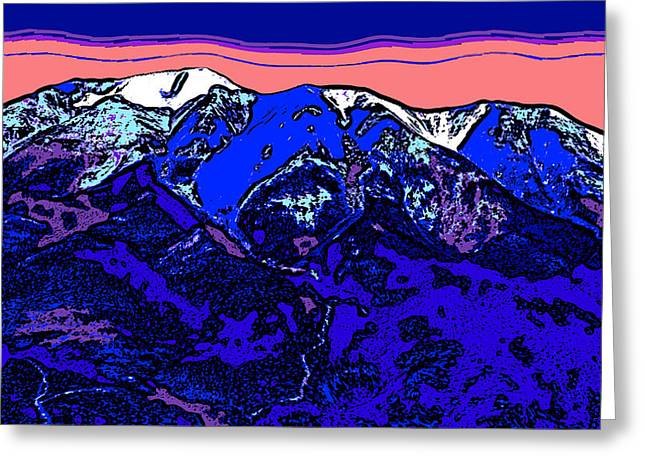 West Spanish Peak- Colorado Greeting Card by David G Paul