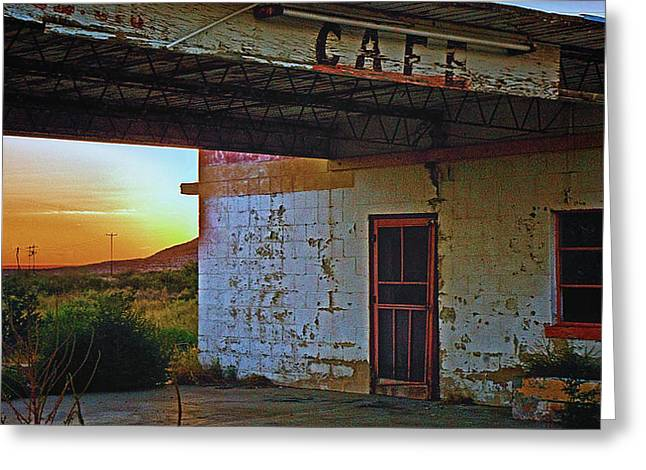 West Texas Cafe Greeting Card by Brian Kerls