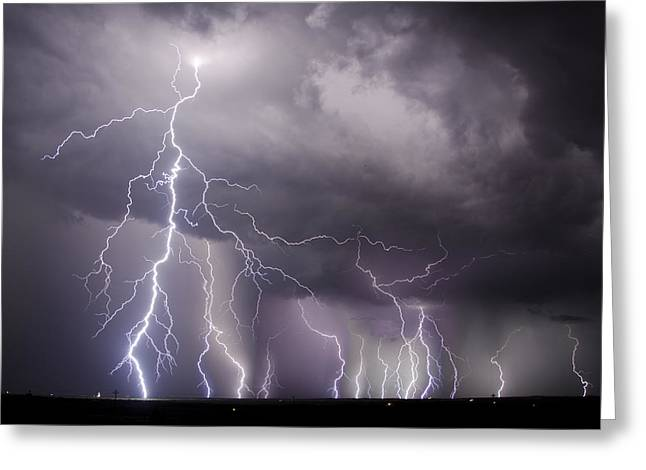 West Texas Light Show Greeting Card
