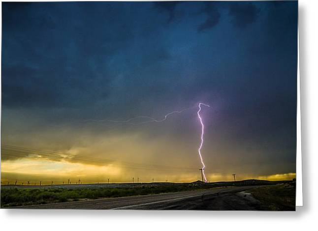 West Texas Thunderstorm Greeting Card