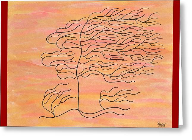 West Texas Wind Greeting Card by Susie WEBER