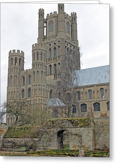 West Tower Of Ely Cathedral  Greeting Card