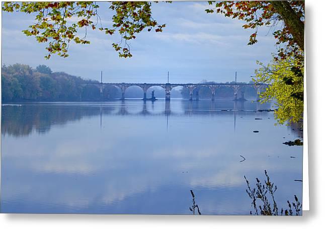 West Trenton Railroad Bridge Greeting Card by Bill Cannon