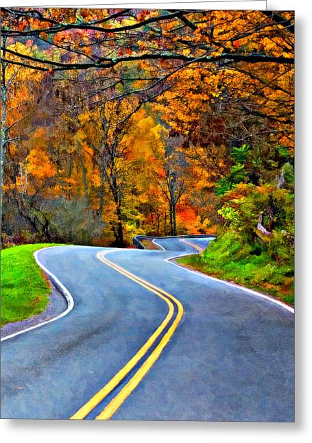 West Virginia Curves 2 Oil Greeting Card