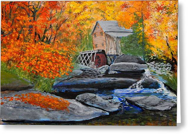 West Virginia Grist Mill Greeting Card by William Tremble