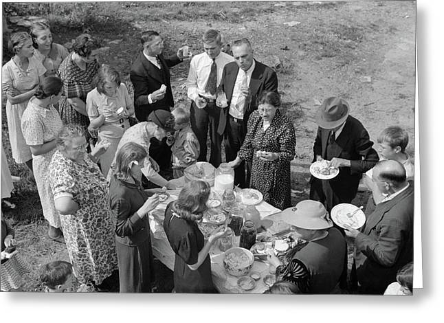 West Virginia Picnic, 1938 Greeting Card by Granger