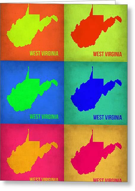West Virginia Pop Art Map 1 Greeting Card