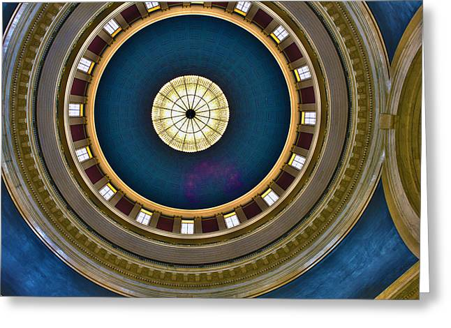 West Virginia State Capital Dome Hdr Greeting Card