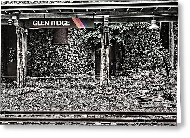 Westbound Track At Glen Ridge Station Greeting Card