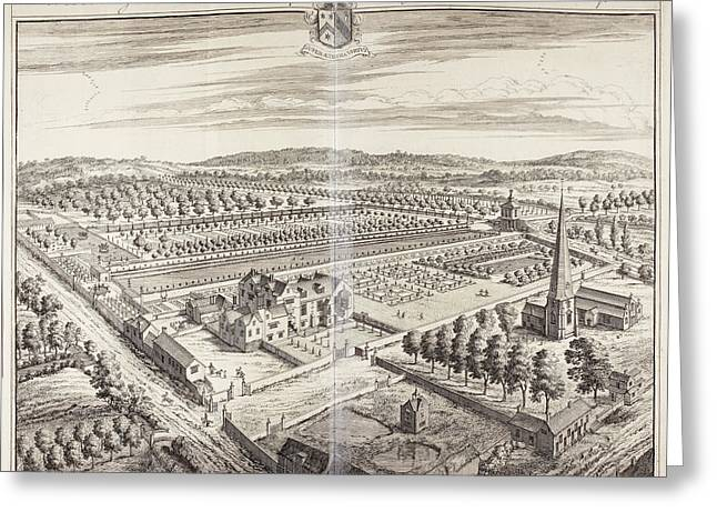 Westbury Court House And Gardens Greeting Card by British Library