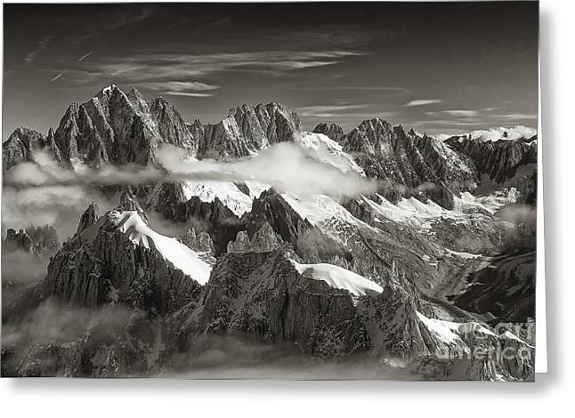 Western Alps - Panorama Greeting Card by Juergen Klust