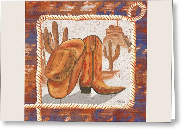 Western Art I Greeting Card by Gina Ritter