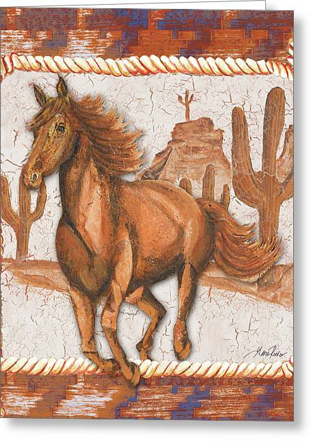 Western Art Iv Greeting Card by Gina Ritter