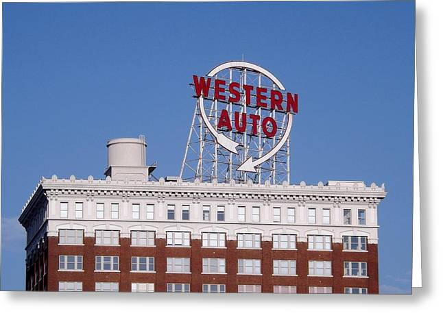 Western Auto Building Of Kansas City Missouri Greeting Card