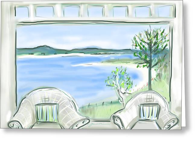 Western Beach Prouts Neck Maine Greeting Card by Jean Pacheco Ravinski