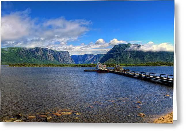 Western Brook Fjord. Greeting Card
