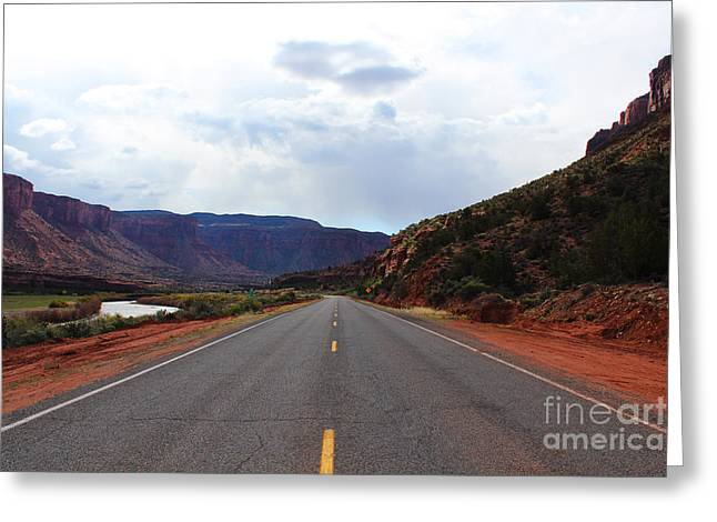 Western Colorado Drive Greeting Card