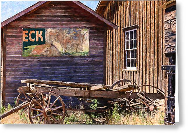 Western Colorado History Greeting Card by Janice Rae Pariza