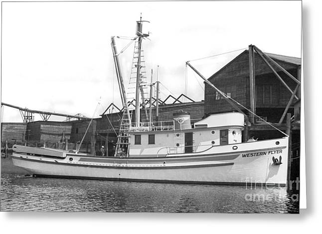 Western Flyer Purse Seiner Tacoma Washington State March 1937 Greeting Card