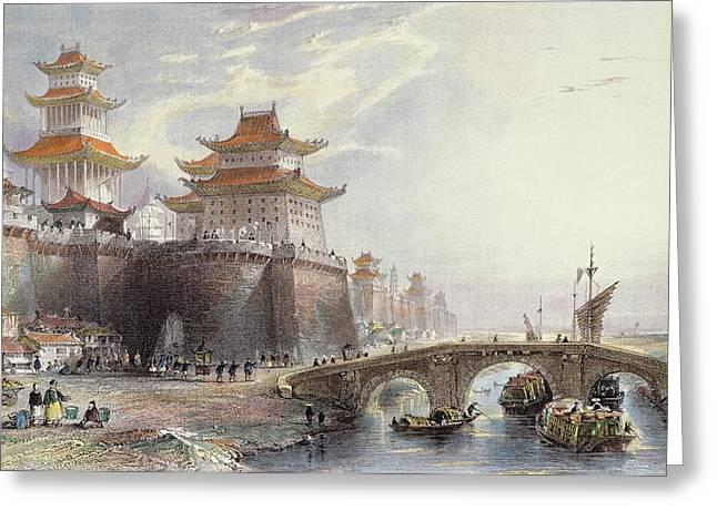 Western Gate Of Peking, C.1850 Greeting Card