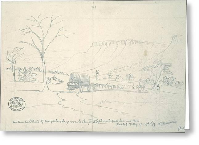 Western Headland Of Magaliesberg, Greeting Card