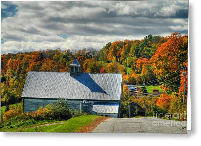 Western Maine Barn Greeting Card