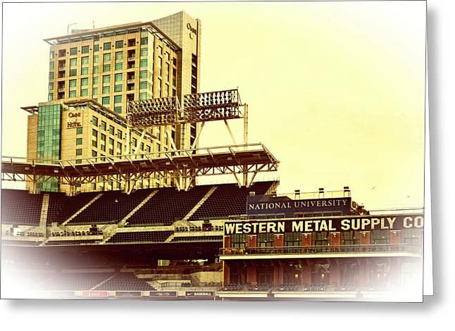 Western Metal-petco Park Greeting Card