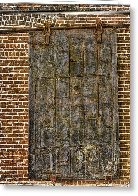 Western Metal Supply Door Greeting Card by Photographic Art by Russel Ray Photos