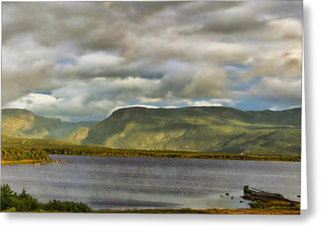 Western Newfoundland Panorma Greeting Card by Steve Hurt