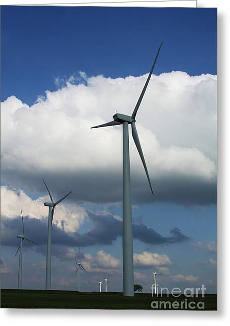 Greeting Card featuring the photograph Western Oklahoma Wind Farm by Jim McCain