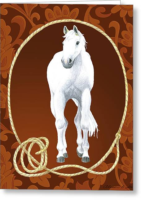 Western Roundup Standing Horse Greeting Card