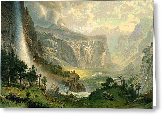 Western Scenery Greeting Card by Unknown