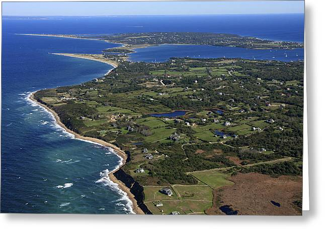 Western Side Of Block Island, New Greeting Card by Dave Cleaveland