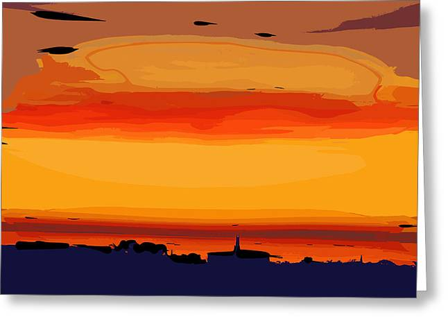 Greeting Card featuring the digital art Western Sky by Kirt Tisdale