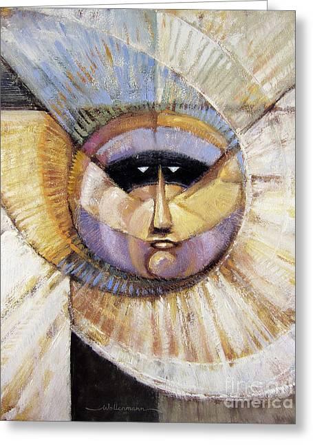 Western Solarmask Greeting Card