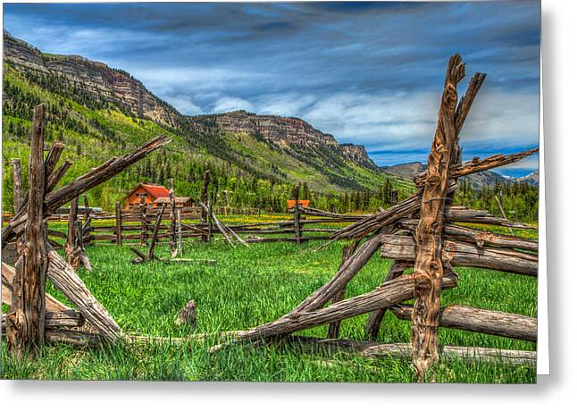 Western Solitude Greeting Card by Tom Weisbrook