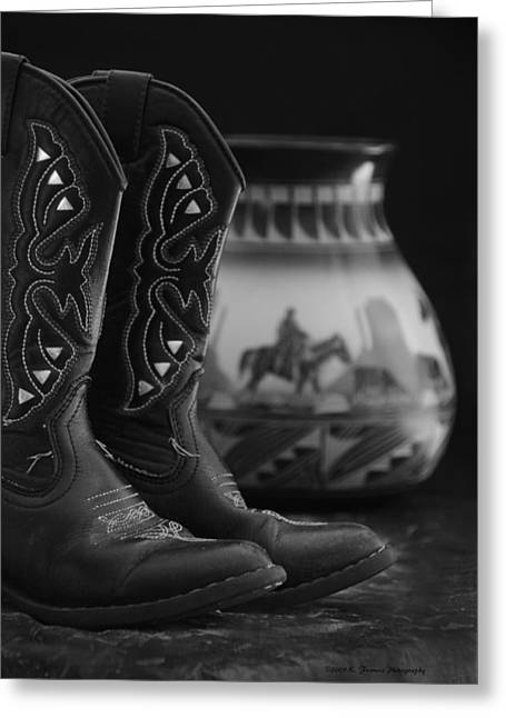 Western Still Life 2 Greeting Card by Kenny Francis