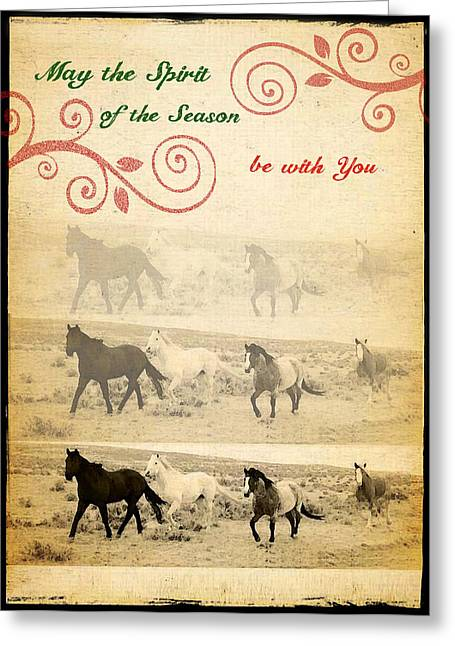 Western Themed Christmas Card Wyoming Spirit Greeting Card
