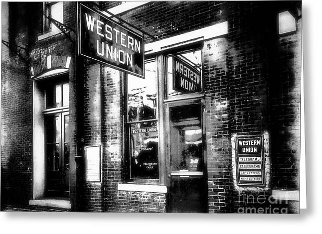 Western Union Redux Greeting Card by Cris Hayes