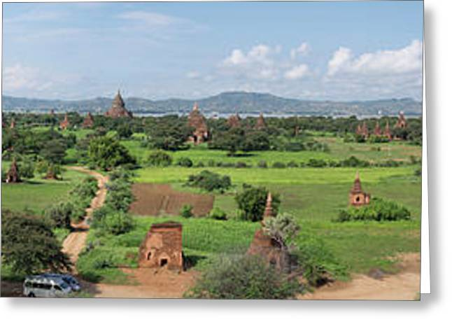 Western View Of Stupas And Temples Greeting Card